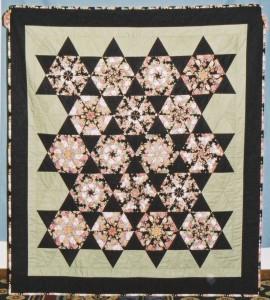 My Stack'N Whack quilt from the November 2, 2002 class sponsored by our Guild.