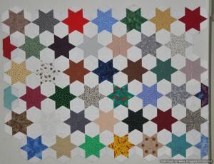 2014_Apr 27_Matthew's Star Quilt_English Paper Pieced.