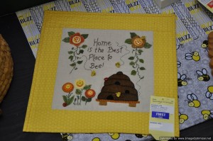 Norma's HoneyBee and Honey Theme - Needlework Picture - Large