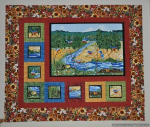 2011 SISTERS OUTDOOR QUILT SHOW FABRIC - CHALLENGE FROM CHER - 46.5 in x 55 in