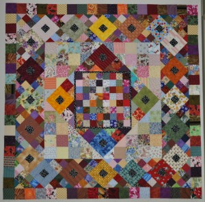 SCRAP CHAOS  - 58 1/2 inches square