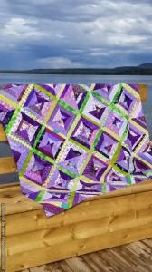 My purple string quilt