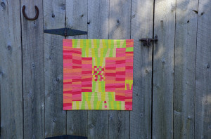 Krista's Sample Quilt for Improv Under the Influence Quilt Workshop