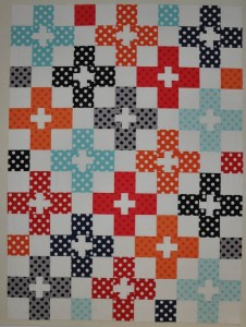 12 - Check Plus - This one needs quilting & binding