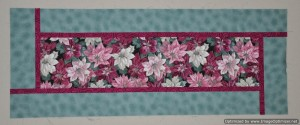 4 - Poinsettia Table Runner - this one needs quilting & binding