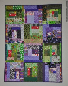 Canada 150 Slab Quilt - green and purple