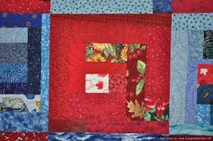 Canada 150 Slab Quilt close up