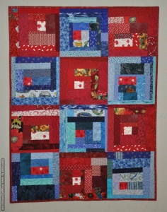 Canada 150 Slab Quilt - red and blue