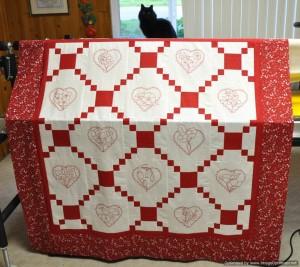 8 - Redwork Hearts
