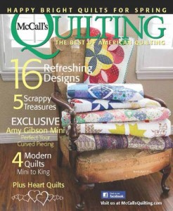 March / April 2015 cover of McCall's Quilting magazine