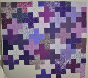 Purple Plus - blocks on the design wall